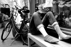 Amsterdam in Black & White, No legs to stand on